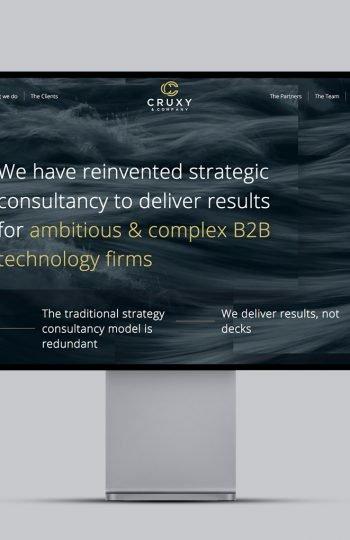 Cruxy website homepage design
