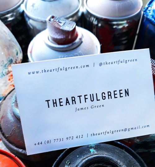 The Artful Green business card